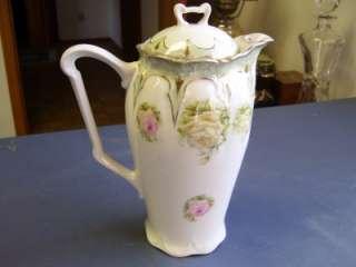 Vintage Three Crown China Rare Rose Pattern Tea Pot
