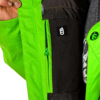 NEW MENS SALOMON GANGSTER SNOWBOARD/SKI JACKET NEO GREEN/ L XL