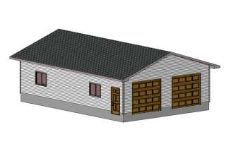 24 X 36 Garage Shop Plans Materials List Blueprints