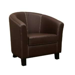 Baxton Studio Elijah Dark Brown Faux Leather Modern Club