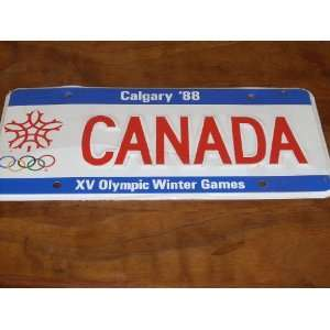 Olympic Winter Games   CANADA Calgary 88 XV Olympic Winter Games