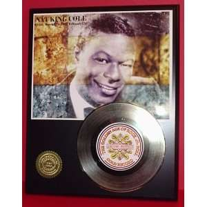 Nat King Cole 24kt Gold Record LTD Edition Display ***FREE PRIORITY