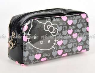 HelloKitty Cosmetic Bag Pouch Makeup Case Black E1GELE