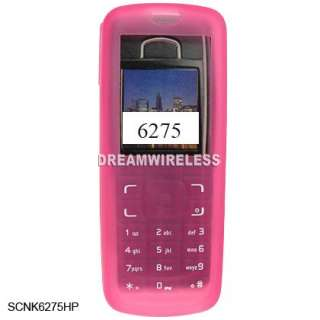 SILICONE SKIN CASE SOFT COVER PINK FOR NOKIA 6275I