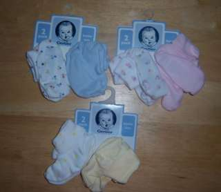 New Gerber 2 Pack Bootie Set, Baby Shower, Diaper Cake, ASSORTED