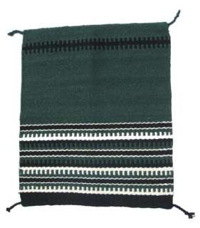 Green Western Horse Saddle Blanket Pad NZ Wool
