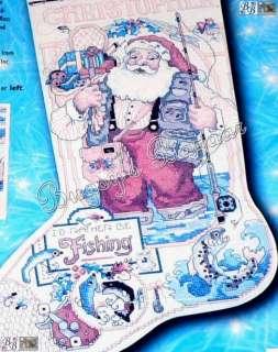 SANTA Counted Cross Stitch Christmas Stocking Kit   L/R  Gillum