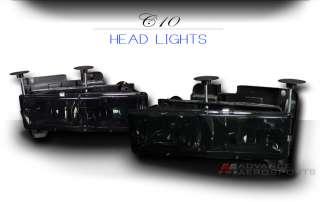 88 02 Chevy/GMC C10 C/K 1500 2500 3500 Pickup JDM Smoked Lens Crystal