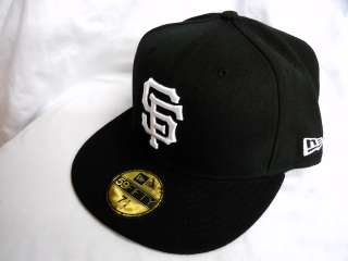 New Era 5950   San Francisco Giants   WHITE on BLACK   MLB Baseball