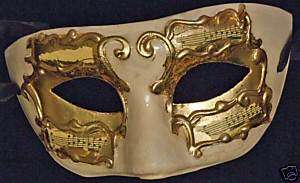 Gold & Ivory Mardi Gras Venetian Mask Halloween Party