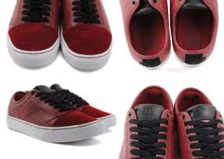 VANS LARKIN CORDOVAN WHITE RED SKATE 10 SHOES NEW OTW