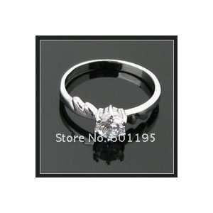 18k White Gold Plating Diamond Finger Ring Size 8