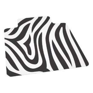 ES Robbins Zebra Design Series Chair Mat w/ Lip for Medium