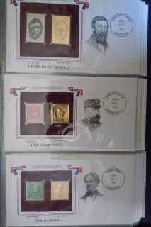 Great Americans on United States Stamps with 22k Gold Foil Stamps (99