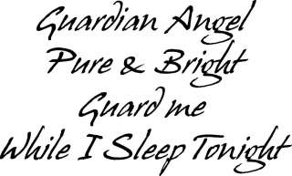Guardian Angel Pure   Vinyl Wall Art Decals Words