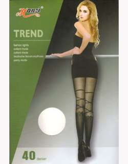 Manzi Quality Sheer Tights with Bow Sock Look 40D H6