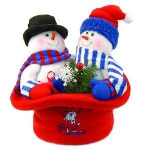 12 NCAA Ole Miss Rebels Snowmen Top Hat Table Christmas