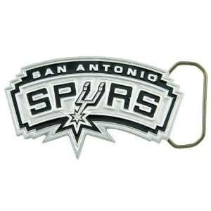 NBA San Antonio Spurs Pewter Team Logo Belt Buckle: Sports