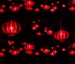 Red 10M Led Lights Lanterns Style String Wedding Happy