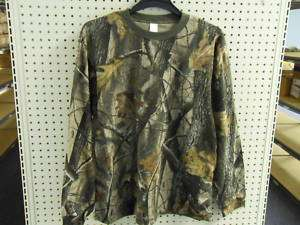 Long Sleeve T shirt Realtree Hardwoods Mens Camo MEDIUM M