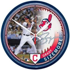 Cleveland Indians Grady Sizemore Wall Clock