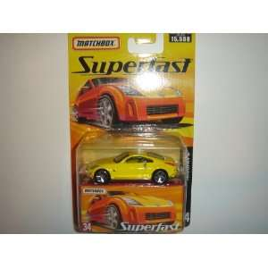 2005 Matchbox Superfast Nissan Z Yellow #34 Toys & Games