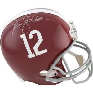 Ken Stabler Autographed Helmet  Details Alabama Crimson