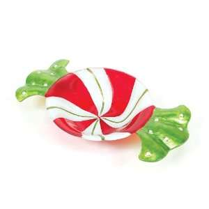 Pack of 4 Candy Crush Peppermint Glass Christmas Serving