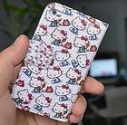 Hello Kitty Leather Flip Skin Case Cover For Apple ipod Touch4 +Screen
