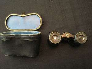 ANTIQUE BINOCULARS WITH CASE LEMAIRE FABT PARIS