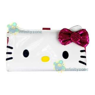 NEW Hello Kitty Leatherette Sequin 7 Wallet Card Holder Purse Bag