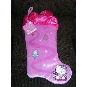 Soft Fabric Hello Kitty Christmas Stocking Holiday Cat