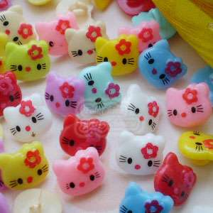 Kitty 12mm Plastic Buttons Sewing Scrapbooking Cardmaking HKB