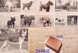 1928 374pg DOG CARE HND~VETERINARY BREEDING PROBLEMS PUPPY MEDICAL PET