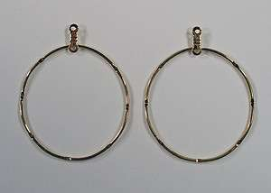 Earring Hoops Round Dream Catcher Gold Plated 1 pair