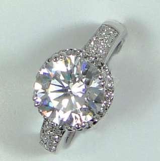 Plated 3.8ct Round Cubic Zirconia XMAS GIFT Diamond Cut Ring AR1012