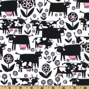 44 Wide Monkeys Bizness Park  N Moo Cows Black/White