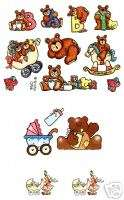 LOT Provo Craft BABY Teddy Bear Scrapbook Stickers