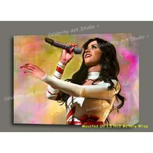 KATY PERRY ORG MIXED MEDIA PAINTING ON CANVAS W GALLERY