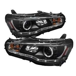 Spyder Auto PRO YD ML08 DRL BK Mitsubishi Lancer/EVO 10 Black DRL LED