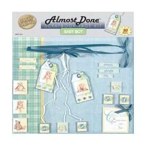 Almost Done Page Kit 12X12   Baby Boy Arts, Crafts