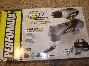 Performax 12v Cordless Oscillating Multi Tool Drill Kit 693513792649