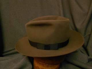 c018afb233c ... Size 7  Gray Vintage Royal DeLuxe Stetson Fedora Hat with Original Box!