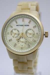 Kors Horn Jet Set Multi Functions Pearl Dial Women Watch 36mm MK5039