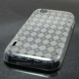 Argyle Candy Skin TPU Gel Case Cover For LG myTouch (T Mobile)