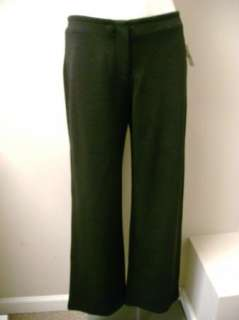 High End Department Store Petite Black Wool Knit Pants PS NWT