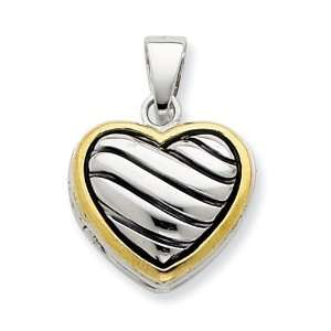 Sterling Silver Gold Plated Heart Locket Jewelry