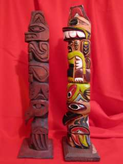 Williams totem pole native american indian vtg tiki tribal art pacific