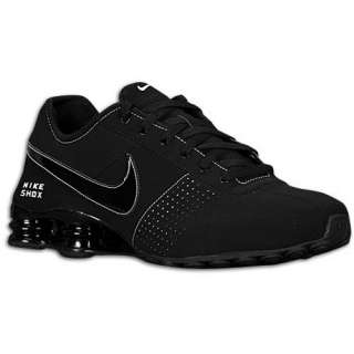 MENS NIKE SHOX DELIVER LEATHER RUNNING SHOES BLACK / WHITE 7
