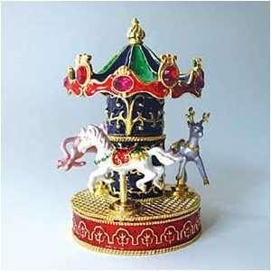 Box Swarovski Crystals 24K Gold Keepsake Trinket Pill Merr Jewelry